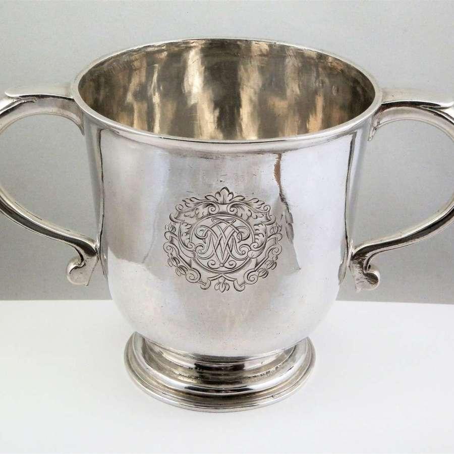 Queen Anne Britannia silver two handled cup, Robert Cooper London 1709