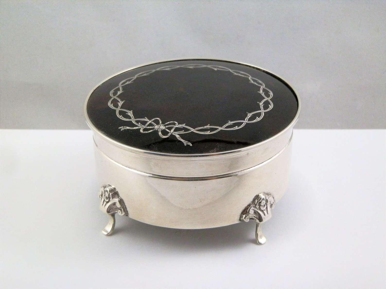 Art Deco style tortoiseshell jewellery box, Adie Brothers 1926