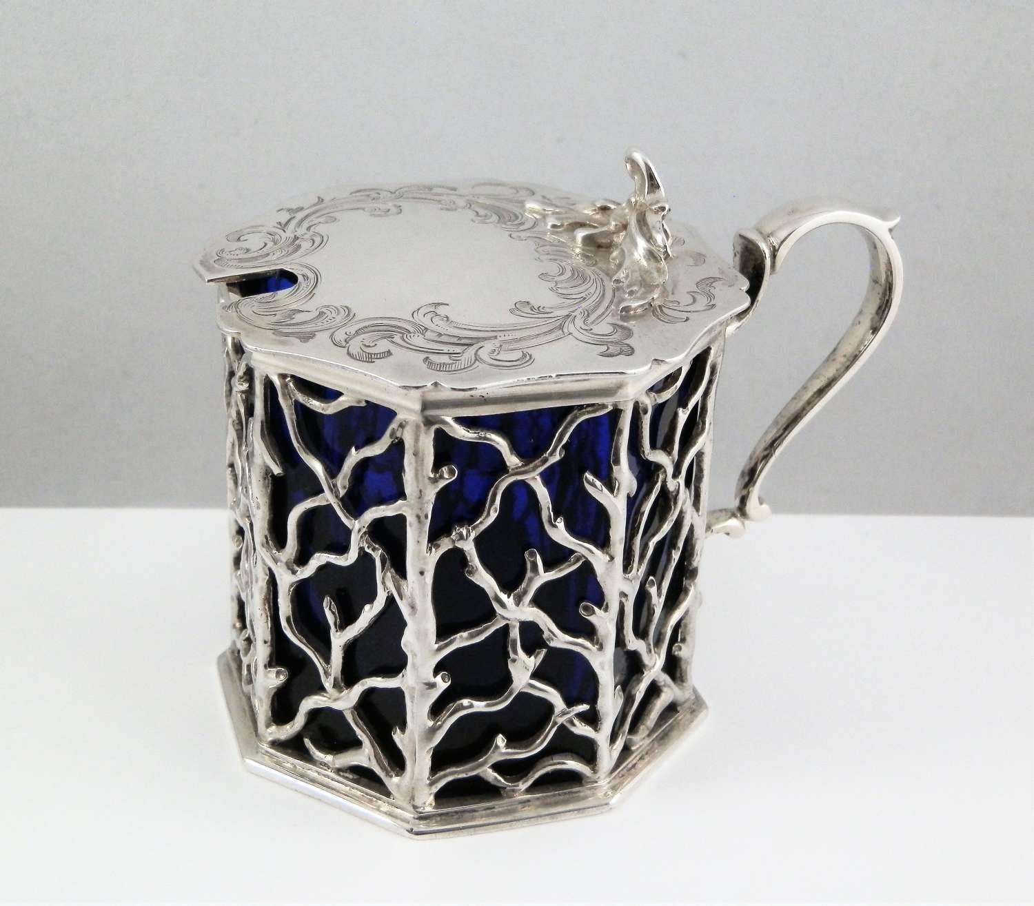 Early Victorian large mustard pot, Charles & George Fox, 1842