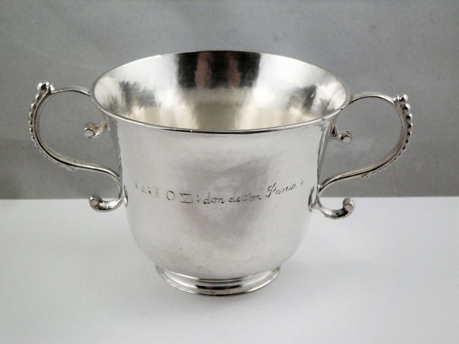 Guernsey silver christening cup, Pierre Mangy, c.1753