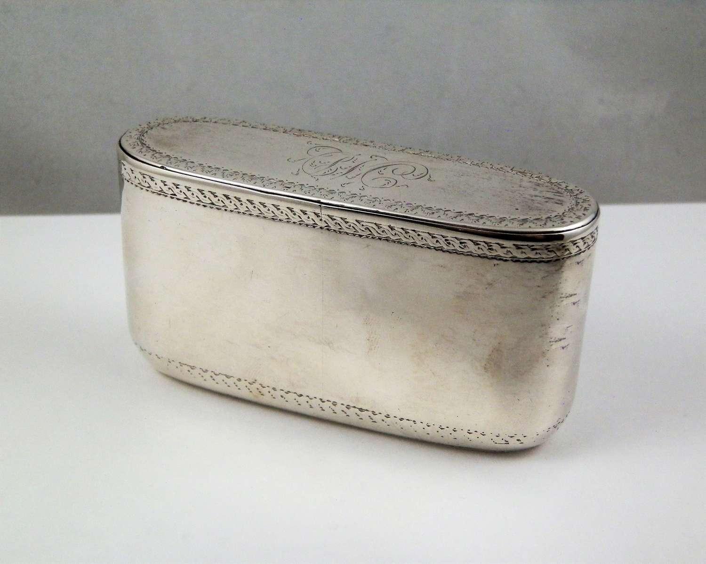 George III silver snuff box, by George Cowles, London 1781