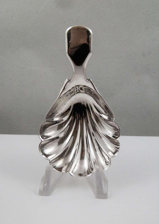 A William IV silver caddy spoon, Thomas Edwards, London 1836